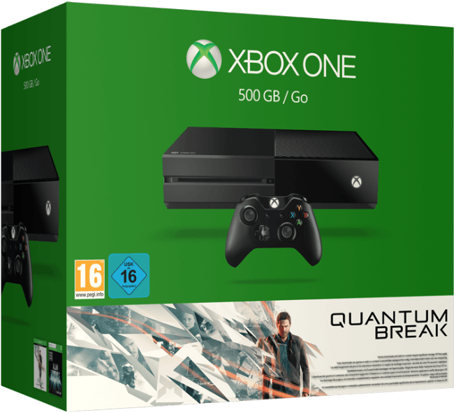 Spielkonsolen - Microsoft Xbox One Quantum Break Bundle Spielkonsole 500 GB HDD Schwarz  - Onlineshop JACOB Elektronik