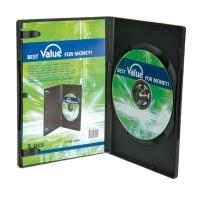 VALUE DVD Hülle slim, schwarz, 7mm, 5er Pack (1...