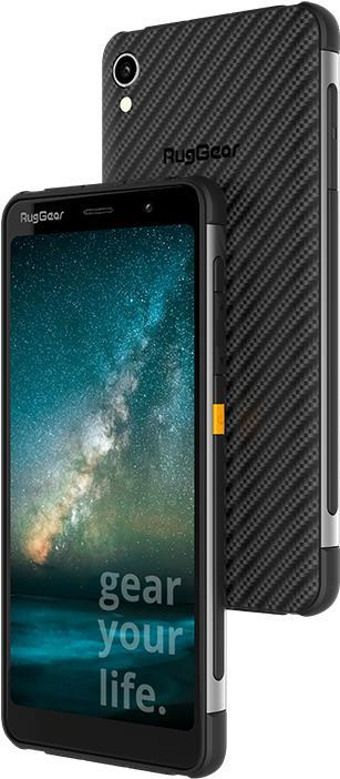 Outdoor Telefone - Ruggear RG850 Smartphone Dual SIM 4G LTE 32GB microSDXC slot GSM 15,20cm (5,99) 1440 x 720 Pixel TFT RAM 3GB 12 MP (8 MP Vorderkamera) Android Schwarz mit gelben Akzenten (85030000)  - Onlineshop JACOB Elektronik
