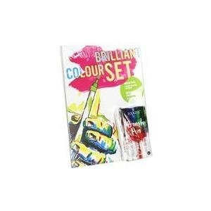 RÖMERTURM Brilliant Colour Set, Aquarellpapier + Brush Pens Papier: 20 Blatt, 240 x 320 mm, 225 g/qm Aquarellpapier, - 1 Stück (90025568)