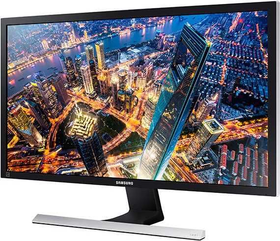 Samsung UD590 Series U28E590D - LED-Monitor - 71,12 cm (28) - 3840 x 2160 4K - TN - 370 cd/m2 - 1 ms - 2xHDMI, DisplayPort - Schwarz, Glänzend (LU28E590DS/EN) - Sonderposten