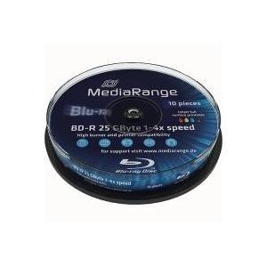 MediaRange Inkjet Fullsurface-Printable - 10 x BD-R - 25GB 4x - mit Tintenstrahldrucker bedruckbare Oberfläche - Spindel (MR496)