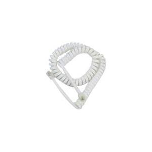 Helos Hörerspiralkabel lang, weiß, lose (ausgezogen ca. 4 m) (014125)