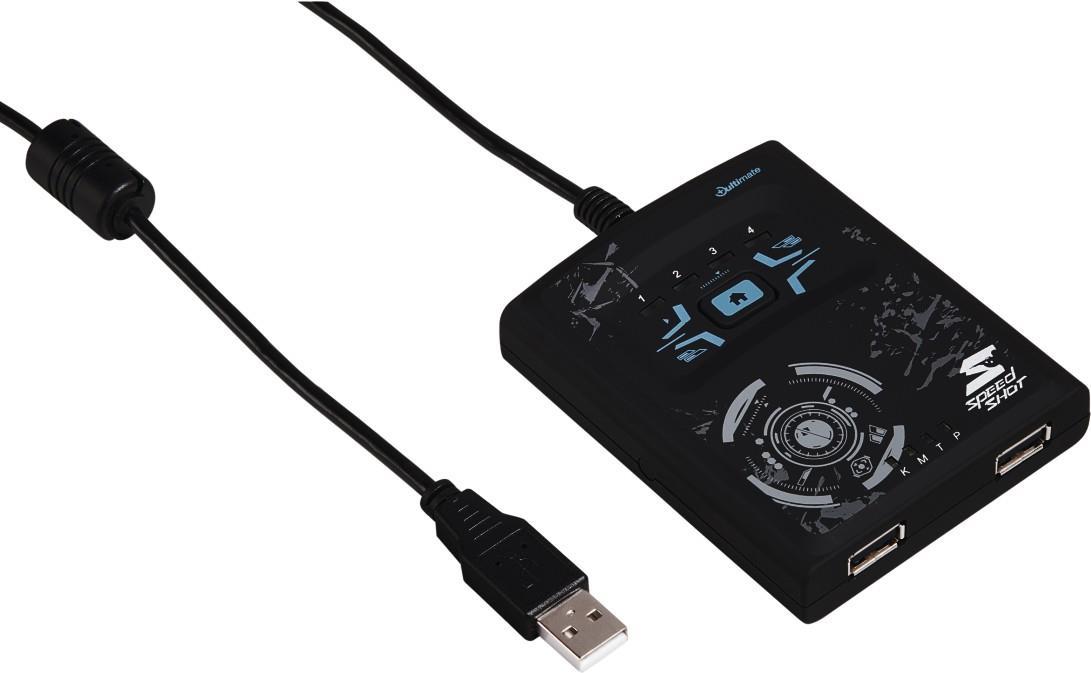 Hama Speedshot Ultimate - Eingangsadapter für Spiele - USB - Grau (00054478)
