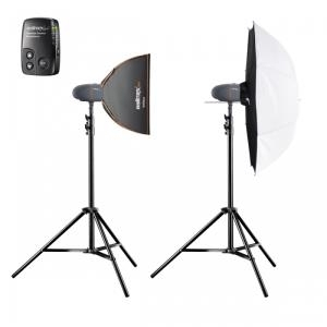 Blitzgeräte - mantona Walimex Pro Newcomer Set Classic 3 3 1SB1DS Stroboskoplampen Kit 2 Köpfe x 1 Lampe 600 Ws AC (21326)  - Onlineshop JACOB Elektronik
