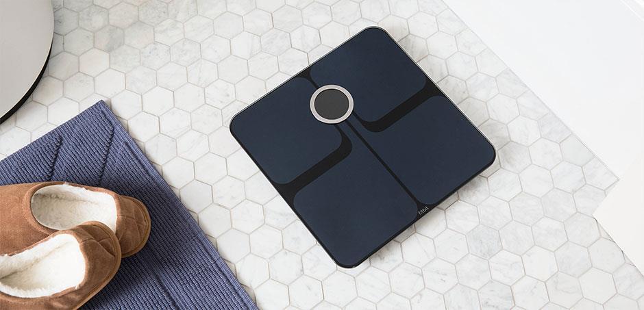 Kleingeräte - Fitbit Aria 2 Elektronische Personenwaage Quadratisch Schwarz (ARIA 2 SW)  - Onlineshop JACOB Elektronik