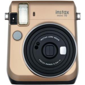 Sofortbildkameras - Fujifilm Instax Mini 70 Instant Kamera Objektiv 60 mm Gold (16513891)  - Onlineshop JACOB Elektronik