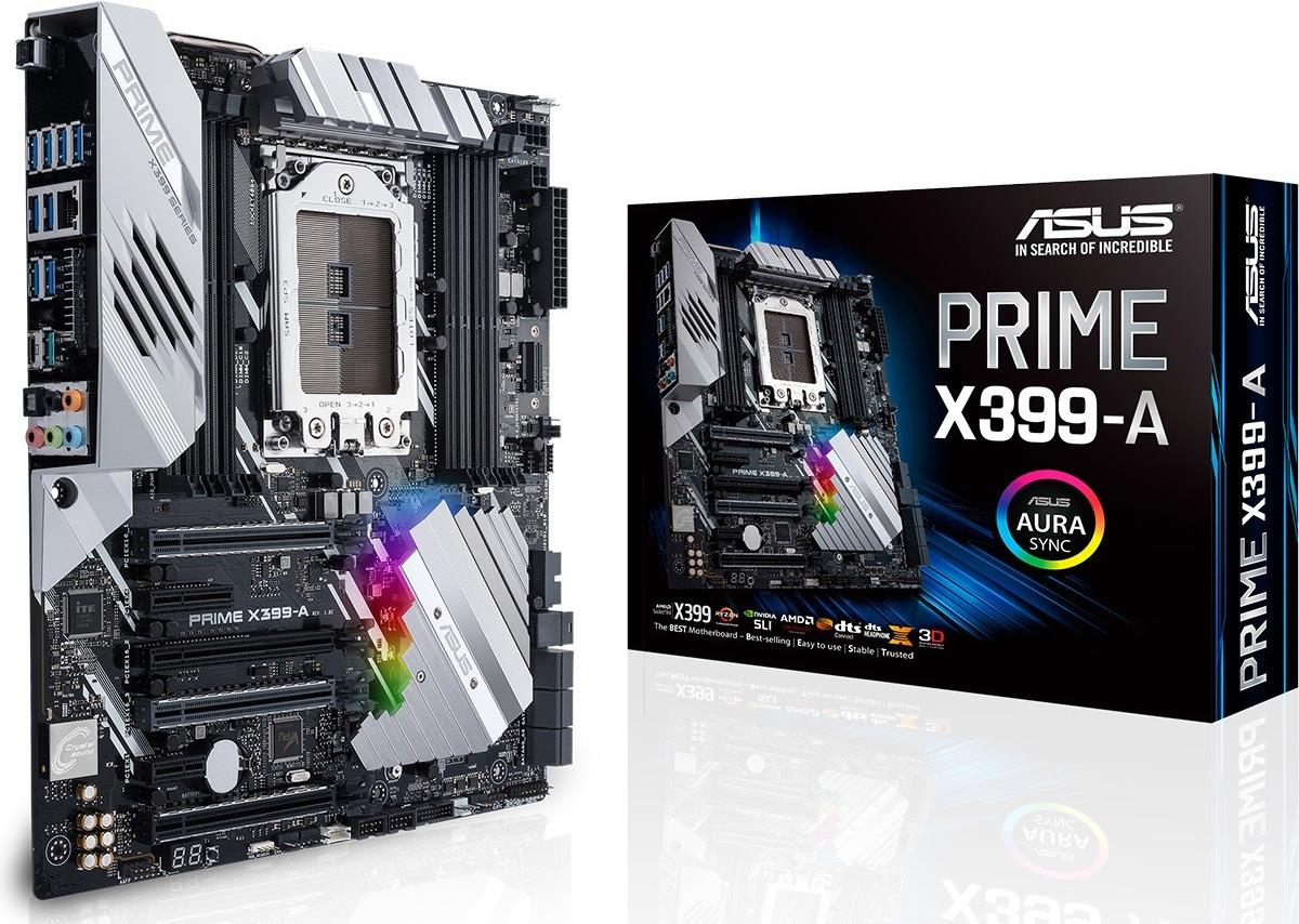 Asus * PRIME X399-A TR4 8DDR4 6SATA / 8USB 3.1 eATX (PRIME X399-A)