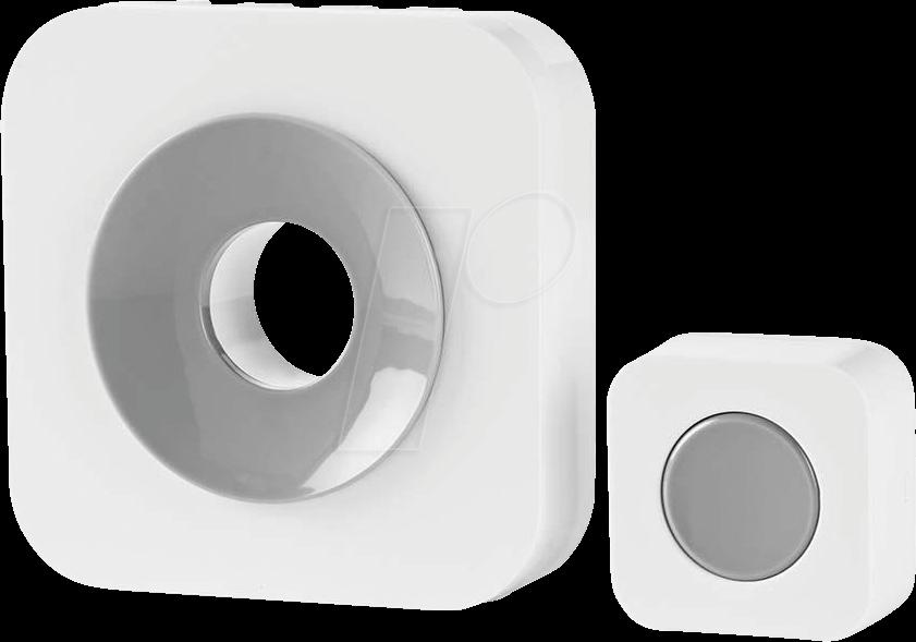 N DOORB112WT - Funk-Tuerklingel-Set Batteriebetrieben (DOORB112WT)
