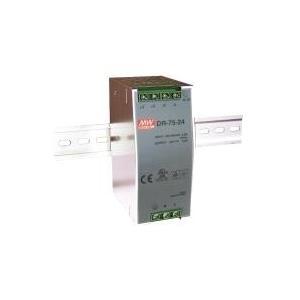 Korenix DR-75-24 INPUT:85-264VAC, 120-370VDC, OUTPUT:24VDC-3.2A (DR-75-24)