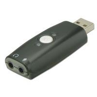 Soundkarten - Lindy Audio Adapter Soundkarte Stereo USB2.0 Cristal Media CM108 (42961)  - Onlineshop JACOB Elektronik