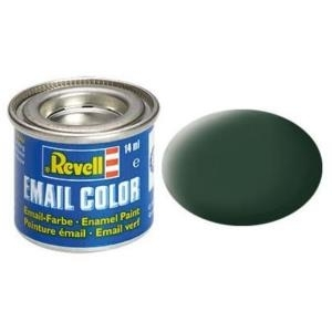 Revell Dunkelgrün - matt RAF 14 ml-Dose Farbe Grün Kunstharz Emaillelackierung Zinn (32168)