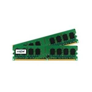 Arbeitsspeicher - Crucial Memory 2 GB (2 x 1 GB) DIMM 240 PIN DDR2 667 MHz PC2 5300 CL5 1.8 V ungepuffert nicht ECC (CT2KIT12864AA667)  - Onlineshop JACOB Elektronik