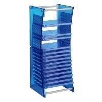 Hama BluRack - Medienablage - Kunststoff - Blau...