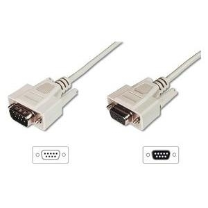 Assmann/Digitus DATATRANSFER CONN.CABLE. D-SUB Anschluss 1: DSUB, 9-pin, Stecker,Anschluss 2: DSUB, 9-pin, Buchse,Haube: vergossen,Schirmung: Doppelt geschirmt (DK-610203-020-E)