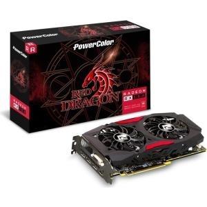 PowerColor Red Dragon Radeon RX 580 - Grafikkarten - Radeon RX 580 - 8 GB GDDR5 - PCIe 3.0 - DVI, HDMI, 3 x DisplayPort (AXRX580 8GBD5-3DHD/OC)
