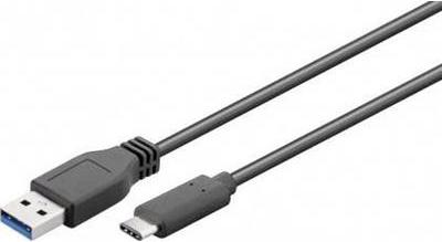 Wentronic FireWire Kabel 3m schwarz 9-polig Stecker auf 9-polig Stecker