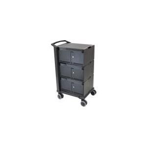 Ergotron Tablet Management Cart 48 with ISI - Wagen für 48 Webtablets - Aluminium, Stahl, ABS-Kunststoff - Schwarz - Bildschirmgröße: 25,4 cm (bis zu 25,40cm (10)) (DM48-1004-2)