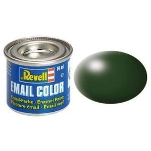 Revell Dunkelgrün - seidenmatt RAL 6020 14 ml-Dose Farbe Grün Kunstharz Emaillelackierung Zinn (32363)