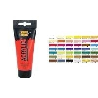 C.KREUL Acrylfarbe SOLO Goya, magenta, 100 ml Art Acryl Basic, deckend, lichtbeständig, lasierend vermal- (84109)