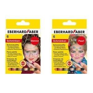 EBERHARD FABER Schminkstifte-Set Pearl, 6 Farbe...