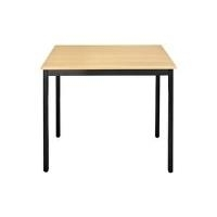SODEMATUB Universaltisch 126RHN, 1.200 x 600, buche/schwarz Arbeitsplatte: buche, Gestell: schwarz, Höhe: 740 mm (126RHN) - broschei