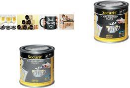 Securit Tafellack PAINT, schwarz, 250 ml wasserbasierende Acryl-Tafelfarbe, zum Erstellen von Kreide - 1 Stück (PNT-BL-SM)