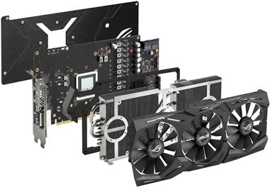 ASUS ROG-STRIX-RXVEGA64-O8G-GAMING - OC Edition - Grafikkarten - Radeon RX VEGA 64 - 8GB HBM2 - PCIe 3.0 x16 - DVI, 2 x HDMI, 2 x DisplayPort (90YV0B00-M0NM00)