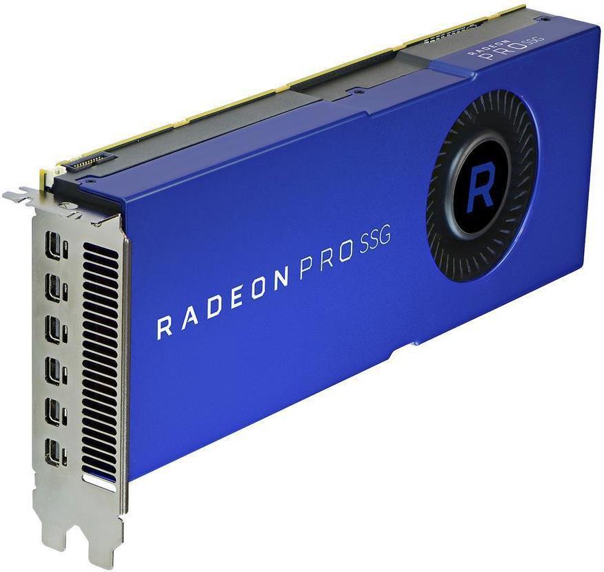 AMD Radeon Pro SSG - Grafikkarten - Radeon Pro SSG - 16GB HBM2 + 2TB SSG - PCIe 3.0 x16 - 6 x Mini DisplayPort (100-506014)