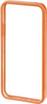 Image of Hama iPhone Bumper Edge Protector Passend für: Apple iPhone 5, Apple iPhone 5S, Orange, Transparent (118816)