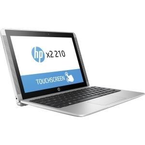 HP x2 210 G2 - Notebook - mit abnehmbarer Tastatur - Atom x5 Z8350 / 1.44 GHz - Win 10 Pro 64-Bit - 2 GB RAM - 32 GB eMMC SSD - kein ODD - 25.7 cm (10.1) LED Touchscreen 1280 x 800 (WXGA) - HD Graphics 400 - Wi-Fi, Bluetooth
