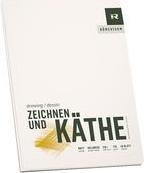 """RÖMERTURM Künstlerblock """"ZEICHNEN & KÄTHE"""", DIN A4 Zeichenblock, hellweiß, matt, 170 g/qm, 40 Blatt, - 1 Stück (88809301)"""