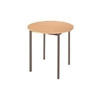 SODEMATUB Universaltisch 80ROPB, rund, 800 mm,birnbaum/braun Durchmesser: mm, Arbeitsplatte: birnbaum, Gestell: braun (80ROPB) - broschei