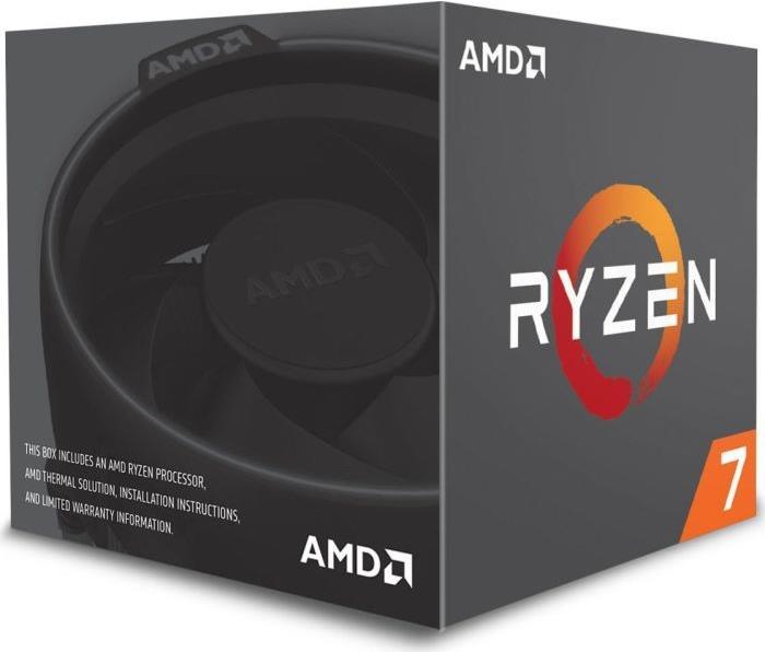 AMD Ryzen 7 2700 - 4,1 GHz - 8 Kerne - 16 Threads - 20MB Cache-Speicher - Socket AM4 - Box (YD2700BBAFBOX)