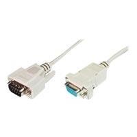 Assmann Datatransfer extension cable. D-Sub9 M/F. 2.0m. serial. snap-hoods. be (AK-610202-020-E)