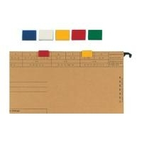 ELBA Farbreiter, aus PVC, zum Aufstecken, weiß für Hängeregistratur vertic 1, Maße: (B)20 x (T)5 x (H)16 mm (85512 WE)