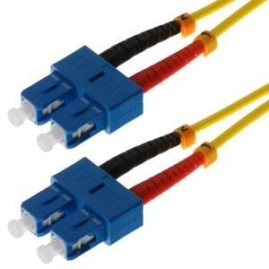 Herweck Helos - LWL Patchkabel - SC Duplex- SC Duplex - 1,0m - 9/125 Mikrometer - OS2 - gelb (115809)