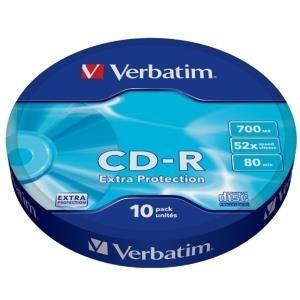 Verbatim - 10 x CD-R - 700MB (80 Min) 52x - Spi...