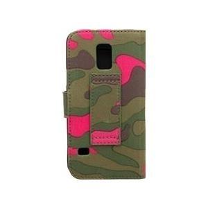 COMMANDER BOOK CASE ELITE Camouflage Pink für Samsung G800 Galaxy S5 Mini (14184) - broschei