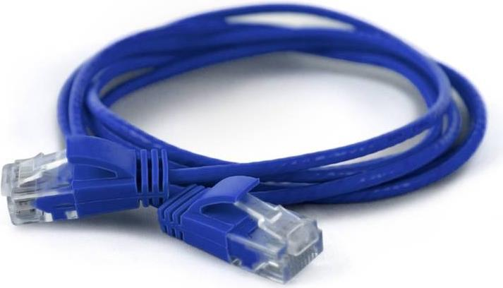 Wantec wW Patchkabel CAT6A rund 2.8mm UTP blau 0.20m - Netzwerk - Patchkabel - 0,2 m - Cat6a - U/UTP (UTP) - RJ-45 - RJ-45 - Blau (7240)