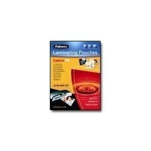 Fellowes Laminating Pouches Capture 125 micron - 100er-Pack - glänzend - 75 x 105 mm - Taschen für Laminierung (53069)