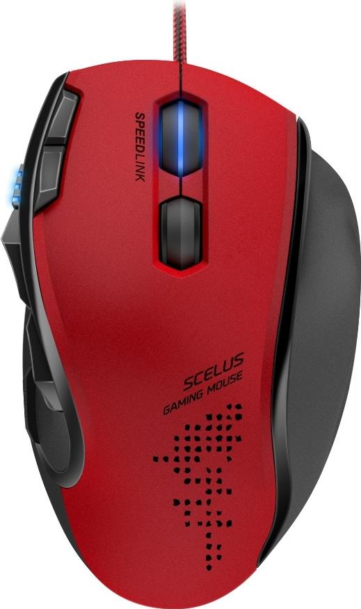 Gamingzubehör - SPEEDLINK SCELUS Maus optisch 8 Tasten kabelgebunden USB Schwarz, Rot  - Onlineshop JACOB Elektronik