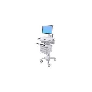Ergotron StyleView Cart with LCD Pivot, 3 Drawers - Wagen für LCD-Display/Tastatur/Maus/CPU/Notebook/Barcodescanner (offene Architektur) Kunststoff, Aluminium, verzinker Stahl Bildschirmgröße: bis zu 61cm (bis 61,00cm (24) ) (SV43-1330-0) jetztbilligerkaufen