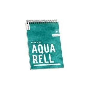 """RÖMERTURM Künstlerblock """"AQUARELL"""", DIN A4, 30 Blatt Aquarell Block, 300 g/qm, weiß, rau, Spiralblock, mit - 1 Stück (88808859)"""
