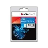 AgfaPhoto - 5 ml - Cyan - Tintenpatrone (Alternative zu: HP 364, HP CB318EE) - für HP Deskjet 35XX, Photosmart 55XX, 55XX B111, 65XX, 65XX B211, 7510 C311, 7520