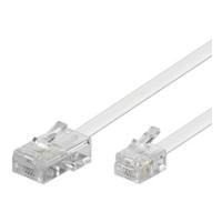 Wentronic 3m RJ-11/RJ-45 Cable - RJ-45 - RJ-11 - Männlich/männlich - Weiß (93061)