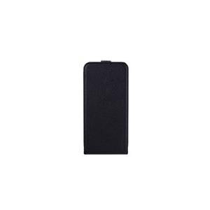 xqisit Flipcover - Flip-Hülle für Mobiltelefon - Kunststoff, Kunstleder - Schwarz - für Apple iPhone 6 Plus (18062)