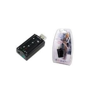 Soundkarten - LogiLink USB 2.0 Soundkarte mit Virtual 7.1 Soundeffekt bietet die Möglichkeit Lautsprecher, Mikrofon, Head Set oder IP Telefon mit Ihrem PC zu verbinden (UA0078)  - Onlineshop JACOB Elektronik