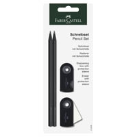 Faber-Castell 218498 - Bleistiftset Grip Sparkle, mit 2 Bleistiften, 1 Radierer und Spitzer, schwarz/weiß jetztbilligerkaufen