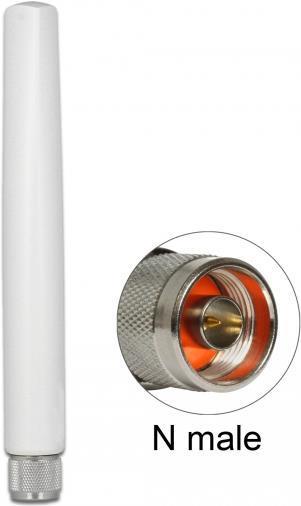 Delock NB-IoT 900 MHz Antenne N Stecker 1,5 dBi omnidirektional starr outdoor weiß (89771)
